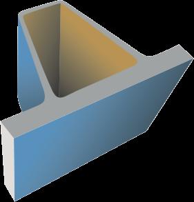 Полые ребра жесткости композитного бассейна